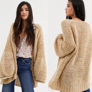 Free People Home Town Cardigan Chunky Knit NWT XS